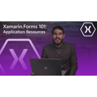 Logo of the podcast Xamarin.Forms 101: Application Resources | The Xamarin Show