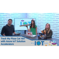 Logo of the podcast Track my Pizza Cat van with Azure IoT solution accelerators | Internet of Things Show