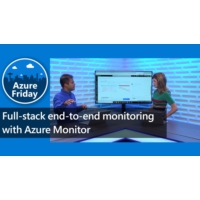 Logo of the podcast Full-stack end-to-end monitoring with Azure Monitor | Azure Friday