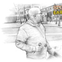 "Logo of the podcast Kissing the Concrete - Snap Spotlights ""Ear Hustle"""