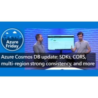 Logo of the podcast Azure Cosmos DB update: SDKs, CORS, multi-region strong consistency, and more  | Azure Friday