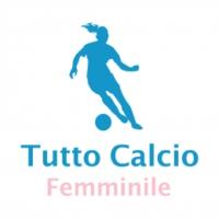Logo of the podcast Tutto Calcio Femminile con Luca e Jacopo Calamai. In studio Ilaria Mauro. In collegamento Katia Ser…
