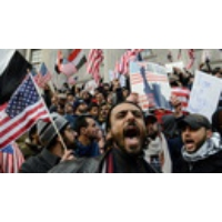 Logo of the podcast Bodegas on Strike: Thousands of Yemeni-American Shop Owners & Workers Rally Against Trump's Muslim …