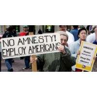 Logo of the podcast 'Amnesty':  Sensitive Word in the Immigration Debate