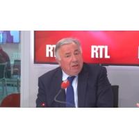 """Logo of the podcast Gérard Larcher : """"l'hôpital est un symbole"""""""