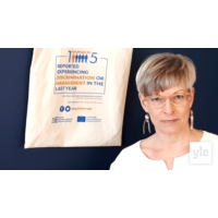 Logo of the podcast Miten EU-maissa yritetään vastustaa syrjintää, yhdenvertaisuusvaltuutettu Kirsi Pimiä