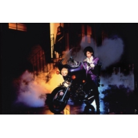 "Logo of the podcast La Pop-Rock Story de ""Purple Rain"" de Prince"