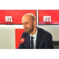 """Logo du podcast """"Gilets jaunes"""", moratoire sur les taxes, débat... Stanislas Guerini était l'invité de RTL"""