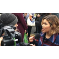 "Logo du podcast Latina Actress America Ferrera: When Trump Says ""America First"" He Is Not Including Me & My People"