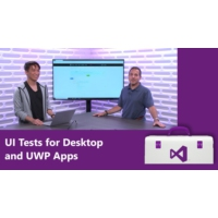 Logo of the podcast UI Tests for Desktop and UWP Apps  | Visual Studio Toolbox
