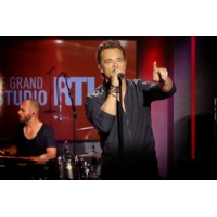 "Logo du podcast David Hallyday en concert dans ""Le Grand Studio RTL"""