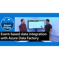 Logo of the podcast Event-based data integration with Azure Data Factory | Azure Friday