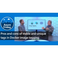 Logo of the podcast Pros and cons of stable and unique tags in Docker image tagging | Azure Friday