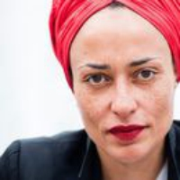 "Logo of the podcast Zadie Smith Reads ""Now More Than Ever"""