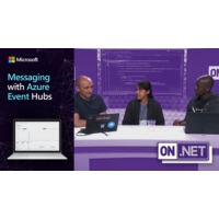 Logo of the podcast Messaging with Azure Event Hubs  | On .NET