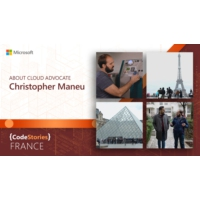 Logo of the podcast Microsoft France: About Cloud Advocate, Christopher Maneu | CodeStories