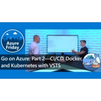 Logo of the podcast Go on Azure: Part 2—CI/CD, Docker, and Kubernetes with VSTS | Azure Friday