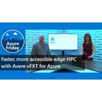 Logo of the podcast Faster, more accessible edge HPC with Avere vFXT for Azure | Azure Friday