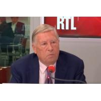 """Logo du podcast Marine Le Pen face à Nathalie Loiseau : """"Un débat intéressant et ouvert"""", pour Alain Duhamel"""