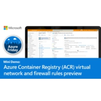 Logo of the podcast Azure Container Registry (ACR) virtual network and firewall rules preview | Azure Friday