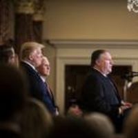 Logo of the podcast Trump's Enablers, Part 2: How Mike Pompeo's Loyalty to the President Has Affected Diplomacy in Ukra…