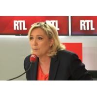 """Logo of the podcast """"Emmanuel Macron est le directeur de campagne d'En marche"""" estime Marine Le Pen sur RTL"""