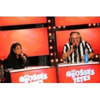 """Logo of the podcast Le mariage arrangé de Yoann Riou et Melha Bedia dans """"Les Grosses Têtes"""""""