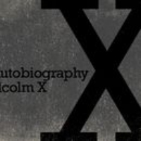 "Logo of the podcast American Icons: ""The Autobiography of Malcolm X"""