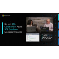 Logo of the podcast It's just SQL: Collations in Azure SQL Database Managed Instance | Data Exposed