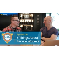 Logo of the podcast Episode 20: Five Things About Service Workers | Five Things