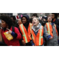 "Logo du podcast ""These Are Not Normal Times"": Hundreds of NYC Students Walk Out to Protest Trump & DeVos"