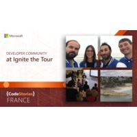 Logo of the podcast Microsoft France: Developer Community at Ignite the Tour | CodeStories