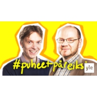 Logo du podcast Puheet päreiksi: Politiikan syksy ja punamultaviisikon etsikkoaika
