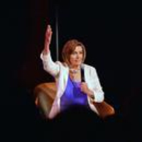 "Logo of the podcast Nancy Pelosi: ""Timing Is Everything"""