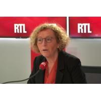 """Logo du podcast Muriel Pénicaud sur RTL : """"La plupart des gens n'ont pas choisi leur métier"""""""