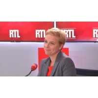 """Logo of the podcast """"Je ne demande pas le retrait de Mélenchon mais un changement de ligne"""", dit Autain sur RTL"""