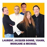 Logo of animator Laurent, Jacques Sonne, Yoann, Morgane & Michael