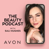 Logo of the podcast The Beauty Podcast, with Sali Hughes