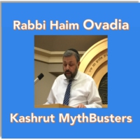 Logo of the podcast Kashrut Mythbusters- Rabbi Haim Ovadia