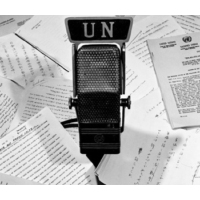 Logo of the podcast La ONU en minutos