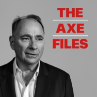 Logo of the podcast The Axe Files with David Axelrod
