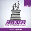Logo du podcast 3 minutes de philosophie pour redevenir humain