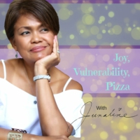 Logo of the podcast Joy, Vulnerability, Pizza - with Junaline