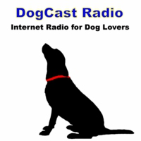 Logo of the podcast DogCast Radio - for everyone who loves dogs