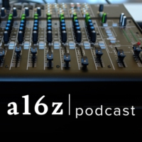 Logo of the podcast a16z