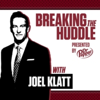 Logo of the podcast Breaking the Huddle with Joel Klatt