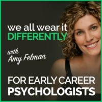 Logo of the podcast We All Wear It Differently - A Podcast for Early Career Psychologists