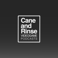 Logo of the podcast The Cane and Rinse videogame podcast