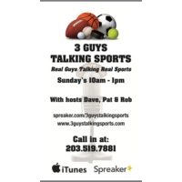 Logo of the podcast 3Guys Talking Sports 8/21/16