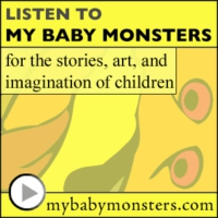 Logo of the podcast [My Baby Monsters: storytelling podcast 11] EPISODE XI: THE LOST SPACE STORIES (Darth Vader visits …